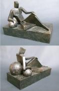 """Chris Squared"" - terracotta painted (24 cm)"