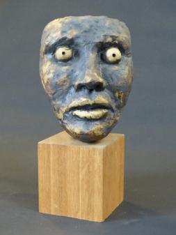 """""""I Know You"""" - Ceramic with oxides (14 cm)"""