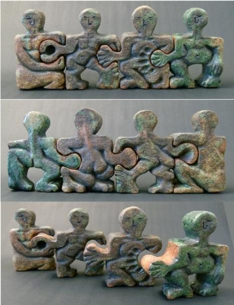 """My Mischievous Brother"" - glazed stoneware SOLD"