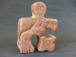 """Jigsaw - large"" - salt-glazed stoneware (27 cm)"