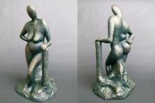 """""""Mrs Attitude"""" - terracotta painted (34 cm)"""