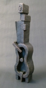 """""""Musician - after Lipchitz"""" - stoneware, painted SOLD"""