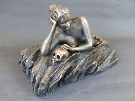 """""""Ocean soul"""" - terracotta painted (18 cm)"""