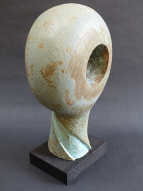 """""""Seed/head"""" - stoneware glazed/painted (43 cm) (Sold)"""