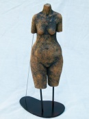 """Torso"" - stoneware with oxides (36 cm)"