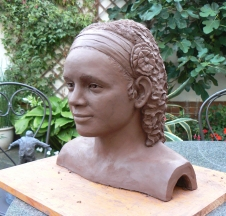 Yoselin - Commission - Terracotta before firing