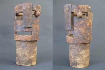 'Open thought' - stoneware ceramic with oxides - 31 cm
