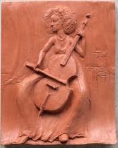 Layil Barr, player of the viola da gamba (terracotta ~35 cm)