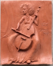 Layil Barr, player of the viola da gamba (terracotta ~35 cm)